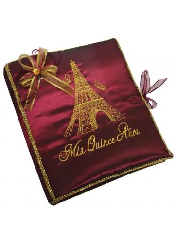 Quinceanera Photo Album Guest Book Kneeling Tiara Pillows Bible Q3184