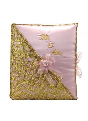 Quinceanera Photo Album Guest Book Kneeling Tiara Pillows Bible Q3182