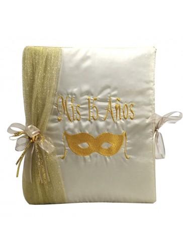 Quinceanera Champagne color Photo Album Guest Book Kneeling Tiara Pillows Bible Q3185