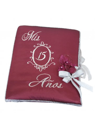 Quinceanera Photo Album Guest Book Kneeling Tiara Pillows Bible Q3193